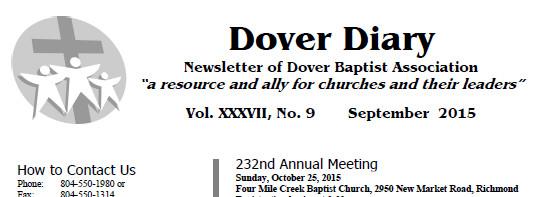 Dover Baptist Association Newsletter
